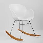 Kline Beechwood Rocking Chair - White