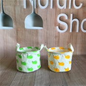 Fieans Multifunctional Storage Baskets Collapsible Convenient Storage Solution Linen Cotton Fabric Nursery Bins Toy Organiser Set of 2-Type A