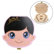 Baby Teeth Box, jinjiu Baby Teeth Lanugo Hair Save Organiser Baby Milk Teeth Save Lovely Wooden Storage Box