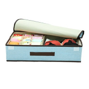 Foldable Drawer Dividers, Storage Boxes, Closet Organisers, Under Bed Organiser£¨Light Blue£