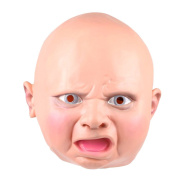Tinksky Baby Head Latex Mask for Halloween Costume Cosplay Accessory