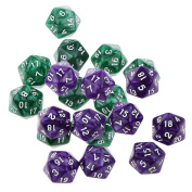Jili Online 20pcs Multi-sided RPG Game Dices Dungeons & Dragons D20 Board Game Dices Toys