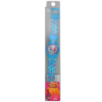 Dreamworks Trolls Analogue Watch with Printed Jelly Band, Blue