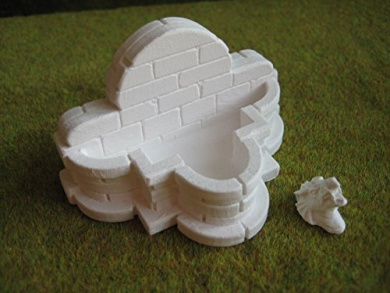 28mm Terrain Dungeon Accessories: Dragon's Head Well