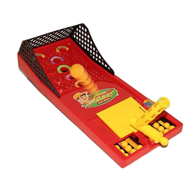Table Top Shoot Ball Game - Pull Aim and Shoot Arcade Board Game for Ages 5 and Up | Portable Desktop Shoot Ball Skills Game - Classic Edition