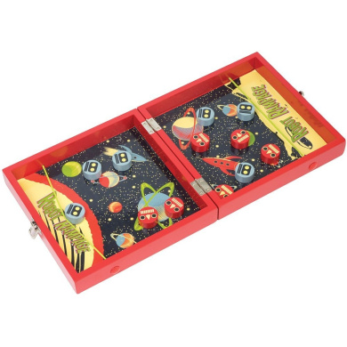 Intergalactic Robot Rampage Retro Style Game w/ 2-IN-1 Space Bungee Board