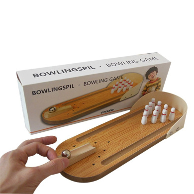 KMMall Mini Wooden Bowling Game Set Great Tabletop Games for Kids and Adults