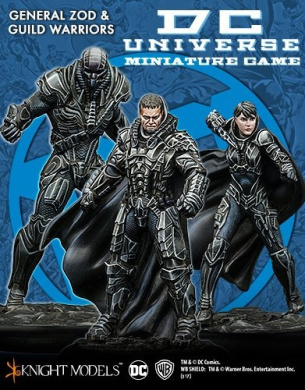Knight Models DC Univers Miniature Game General Zod & Guild Warriors