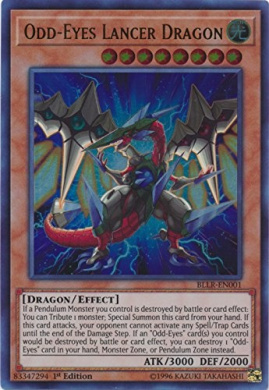 Odd-Eyes Lancer Dragon - BLLR-EN001 - Ultra Rare - 1st Edition - Battles of Legend: Light's Revenge (1st Edition)