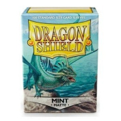 Dragon Shield Deck Protective Sleeves for Gaming Cards, Standard Size (100 sleeves), Matte Mint