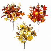 Teters Floral Products Autumn Collection 50cm Mixed Fall Bush Assortment (12-Pack), Piece