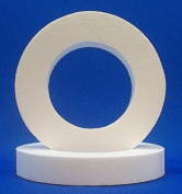 2 PC Set EPS Styrofoam WREATHS 25cm or 30cm x 5.1cm