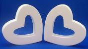 2 PC EPS Styrofoam OPEN HEARTS 30cm x 5.1cm