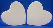 2 PC Set EPS Styrofoam HEARTS 30cm x 5.1cm