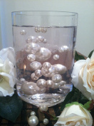 50 White/Ivory Pearls Jumbo & Mix Size Vase Filler No Hole Pearls For Floating Pearl Centrepieces,