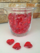 48 Acrylic Red Hearts 23mm for Wedding Decoration Table Scatters, Vase Fillers, Valentine Decor