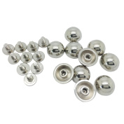 Jili Online 10 Sets Round Spikes Alloy Studs Rivets Screwback Spots Cone Leather Craft DIY 11x5mm