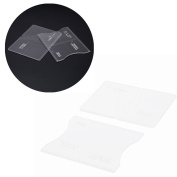 Wallet Leather Template, 2 pcs Clear Acrylic Leather Template Kit Tool for DIY Leathercraft Short Wallet