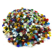 NABLUE Assorted Colours Vitreous Glass Mosaic Tiles For Home Decoration and Crafts Supply - 1cm by 1cm ,500 Pieces, 300 g