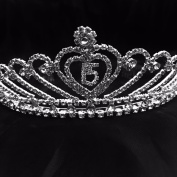 QUINCEANERA TIARA HAPPY BIRTHDAY 15 CROWN RHINESTONES TIARA MIS 15 CORONA SWEET 15 BIRTHDAY