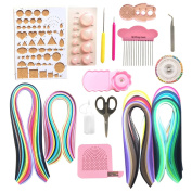 Lantee 20 Sets of Quilling Paper Kits Include 8 Pack of 3mm 960 Quilling Paper Strips and 12 Quilling Tools
