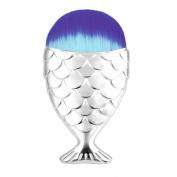 XILALU Fish Scale Makeup Brush New Fashion Fishtail Bottom Brush Powder Blush Makeup Cosmetic Brush