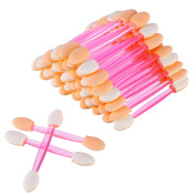 eBoot 150 Pack Disposable Dual Sided Eyeshadow Brush Sponge Tipped Oval Makeup Applicator