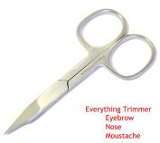 BeautyTrack Nose Scissor Moustache Scissors Baby Hair Trimming Scissor Grooming Beard Scissor Eyebrow Scissor Stainless Steel