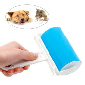 UEETEK Pet Hair Fluff Dust Remover Washable Reusable Sticky Lint Roller Cleaner Set