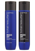 Matrix Total Results Brass Off SHAMPOO And CONDITIONER 300ml Duo Pack | For Neutralising Brassy Tones And Enhancing Blonde Hair