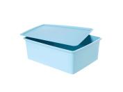 With cover No Grid Debris Close Clothing Storage Storage Box-Blue