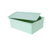 With cover No Grid Bra Finishing Box / Storage Box-Green