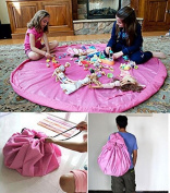 "LLTrader® Large 60"" Diameter Toy Mat Floor Mat Storage Bag And Play Mat 150cm Toys Pouch Toys Organiser - Pink"