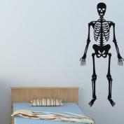 Dnven (23cm W x 60cm H) Happy Halloween Spooky Skull Skeleton Wall Decals Window Mirror Stickers Halloween Decorations for Kids Rooms Nursery Halloween Party