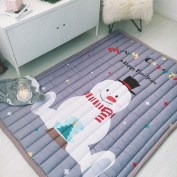 Baby Crawling Mats Kids Playing Rugs Floor Activity Carpets (140cm x 200cm )-Cartoon Printed Pattern Non-slip Eco-friendly & Machine Washable by FashionStreets