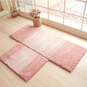 HOMIGOO Rectangle Shaped Rug Pink Mat For Kids Room Shaggy And Soft Rugs For Bedroom/Bathroom Non-Silp Entrance Doormat