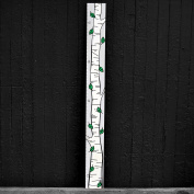 Growth Chart Art | Kids Growth Chart | Height Chart for Kids | The Mod Birch Tree - Birch Green Leaf