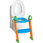 Kid Training Seat - Potty Seat For Kids - With Step Stool Ladder - For Child, Toddler, Children - Orange, Blue, Green - By Kids Toys