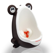 Zhoma Baby Urinal for Boys - Cute Frog Potty Training Urinal for Pee Trainer with Funny Aiming Target - Coffee
