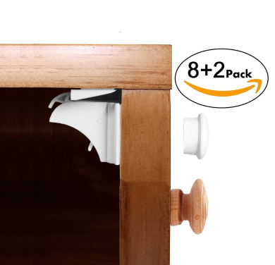 Baby Safety Magnetic Locks For Cabinet And Drawers 8 Locks+ 2 Keys-Baby Proof Safety Locks No Tools Or Screws Needed -3M Adhesive Easy To Instal