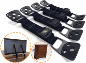 HEAVY DUTY Anti-Tip TV & Furniture Safety Straps| PREMIUM Straps for Child Proofing Home Against Tip-Over Incidents
