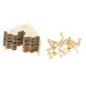 Dophee 10Pcs 25mm Vintage Style Metal Corner Decorative Protector for Jewellery Box Case Cabinet Gold