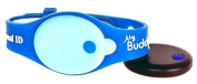 My Buddy Tag, Blue With Silicone Wristband