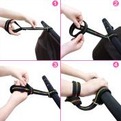 Baby Stroller Pram Safety Belt Wrist Strap with Stroller Hook