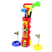 Deluxe Kid's Happy Golfer Toy Golf Set PS311 Red