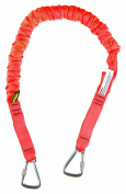 Gear Keeper TL1-4021 1 Super Coil 3m Anchored Tool Tether/Lanyard with Double Stainless Steel Locking Carabiners, 41 - 50 Retracted Length by Gear Keeper