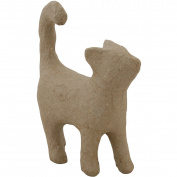 Paper-Mache Cat Walking-10cm x 11cm