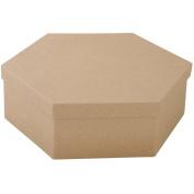 Paper-Mache Hexagon 1/Pkg-23cm x 7.6cm