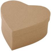 Paper-Mache Heart-15cm x 7cm