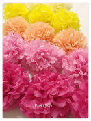 15 pcs tissue paper pom poms for wedding birthday baby shower valentine's day new year party event decoration